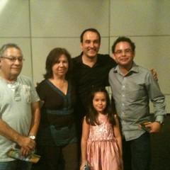 con Rafael Elizondo y familia